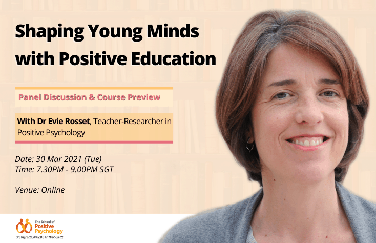 Online Panel + Preview with Dr Evie Rosset: Shaping Young Minds with Positive Education