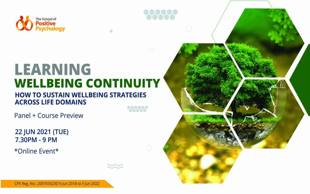 Panel + Preview: Learning Wellbeing Continuity – How to Sustain Wellbeing Strategies across Life Domains